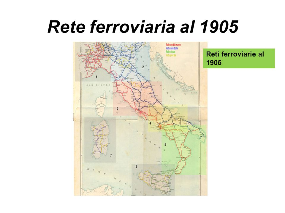 Rete ferroviaria al 1905 Reti ferroviarie al 1905