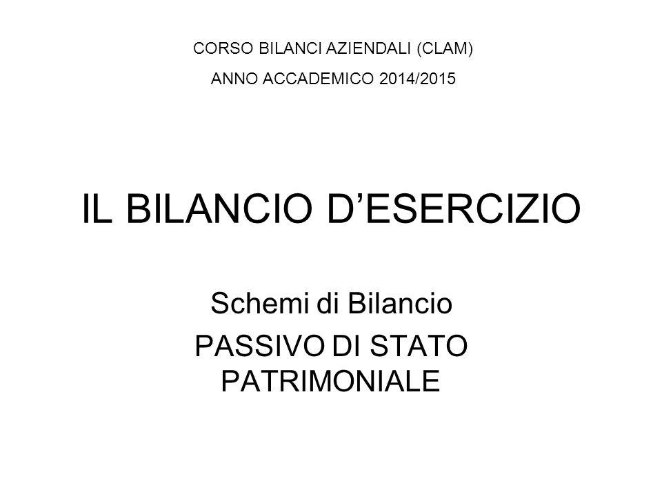 SCHEMA DI STATO PATRIMONIALE Art.2424 C.C. in recepimento Art.