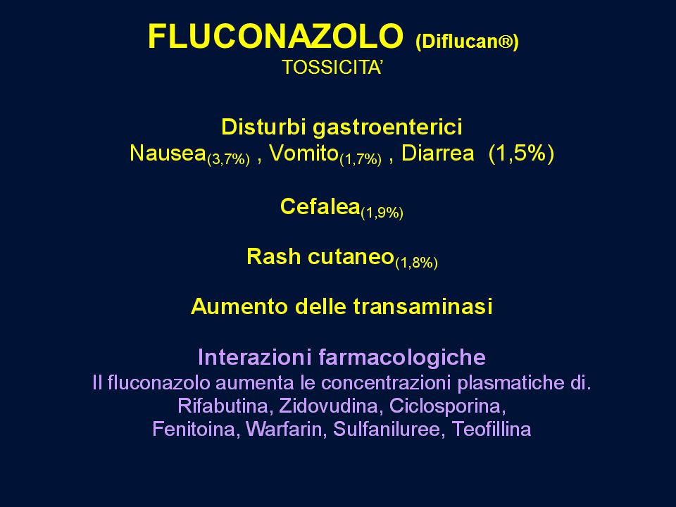 FLUCONAZOLO (Diflucan  ) TOSSICITA'
