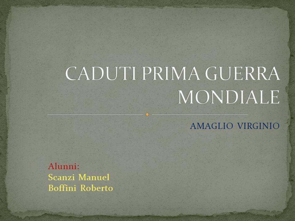 AMAGLIO VIRGINIO Alunni: Scanzi Manuel Boffini Roberto