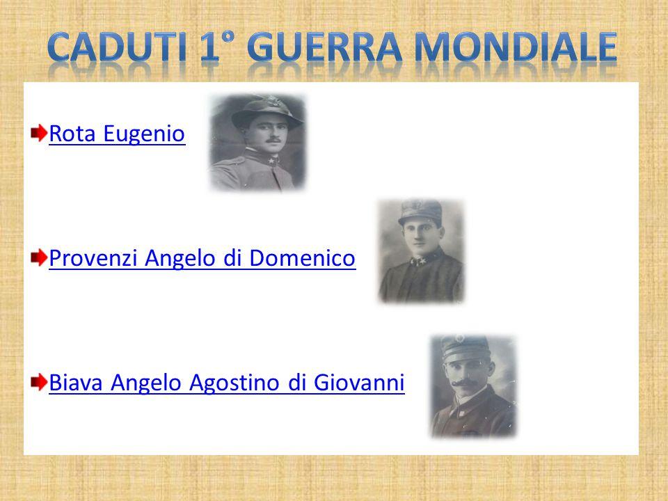 Rota Eugenio Provenzi Angelo di Domenico Biava Angelo Agostino di Giovanni