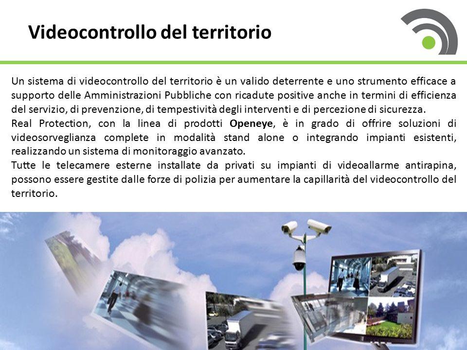 11 Videocontrollo del territorio Un sistema di videocontrollo del territorio è un valido deterrente e uno strumento efficace a supporto delle Amministrazioni Pubbliche con ricadute positive anche in termini di efficienza del servizio, di prevenzione, di tempestività degli interventi e di percezione di sicurezza.