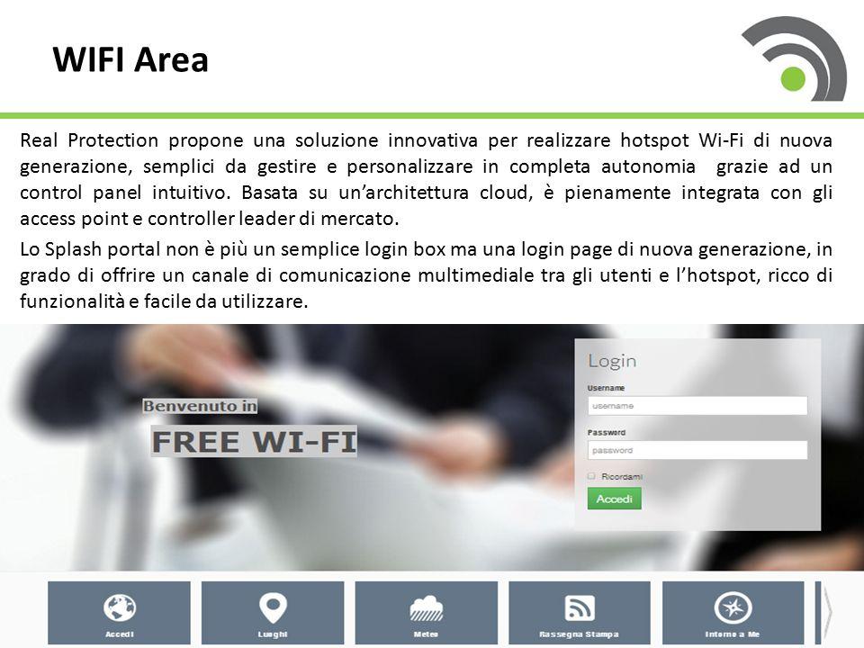 Real Protection propone una soluzione innovativa per realizzare hotspot Wi-Fi di nuova generazione, semplici da gestire e personalizzare in completa a
