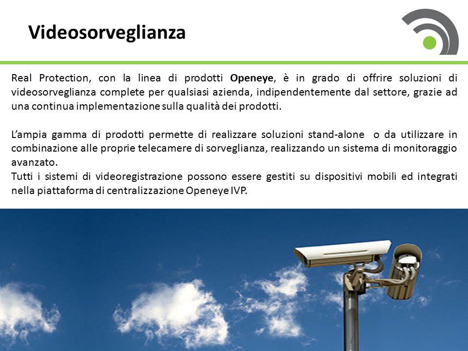 Videosorveglianza Real Protection, con la linea di prodotti Openeye, è in grado di offrire soluzioni di videosorveglianza complete per qualsiasi azien