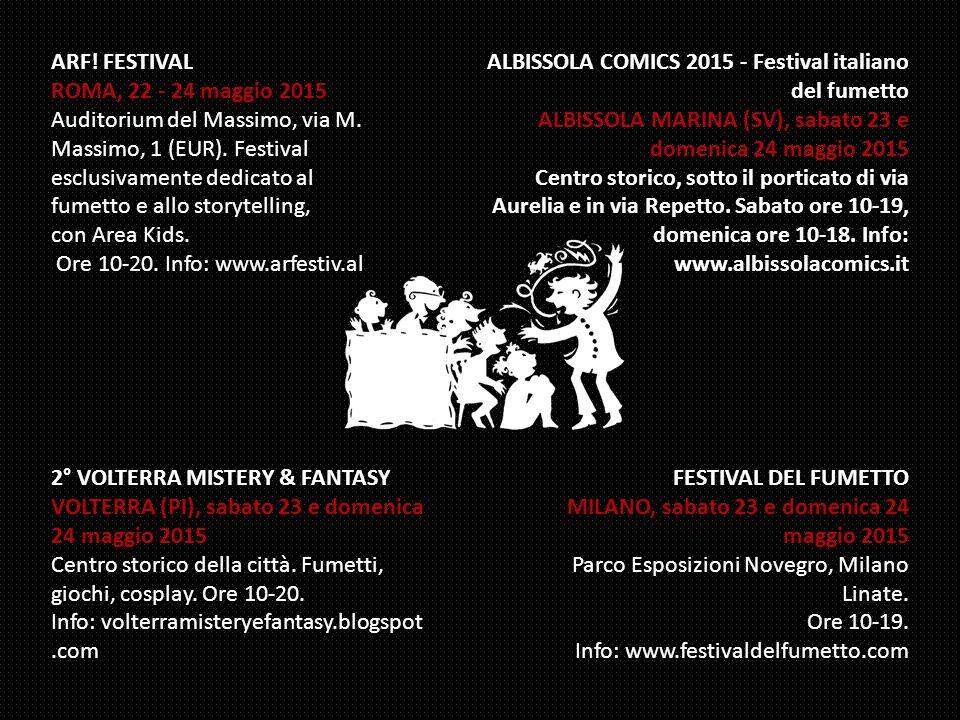 ARF. FESTIVAL ROMA, 22 - 24 maggio 2015 Auditorium del Massimo, via M.