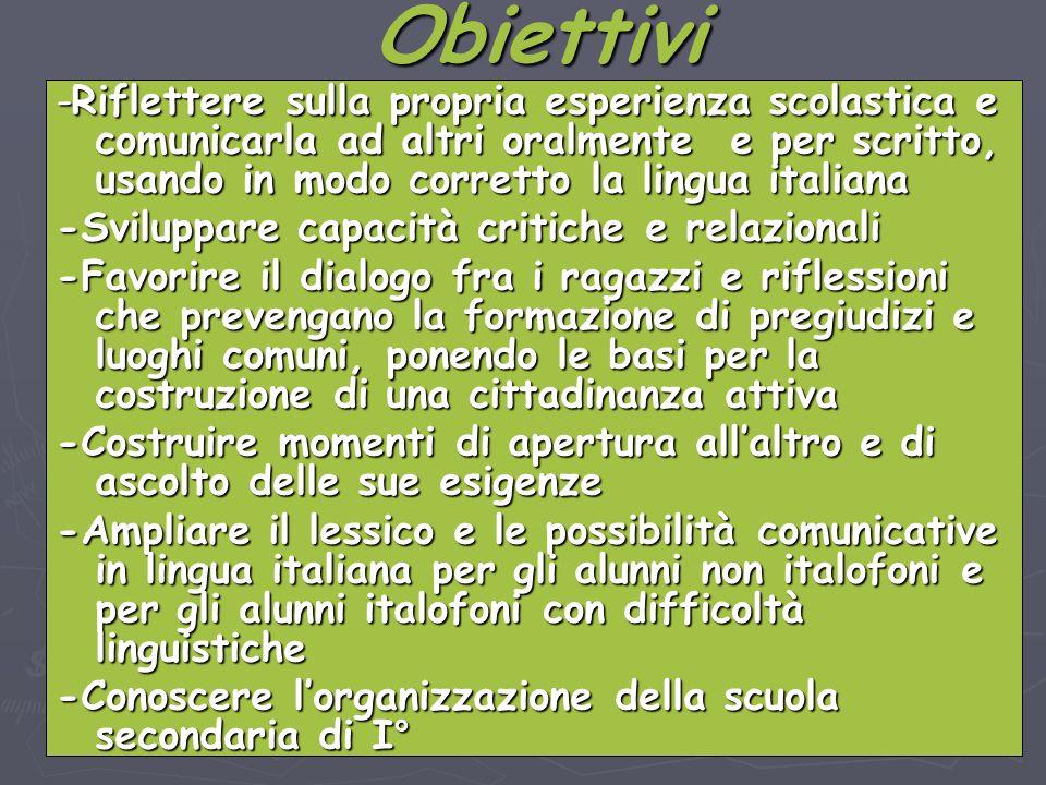 I.C. Fenoglio Bagnolo Piemonte ins. Depetris S. -Riflettere sulla propria esperienza scolastica e comunicarla ad altri oralmente e per scritto, usando