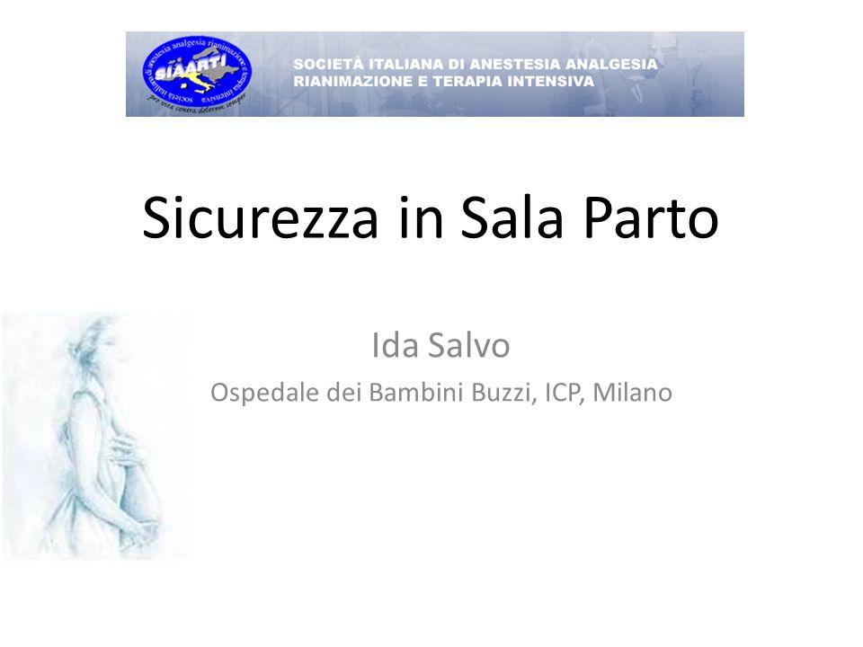 Sicurezza in Sala Parto Ida Salvo Ospedale dei Bambini Buzzi, ICP, Milano