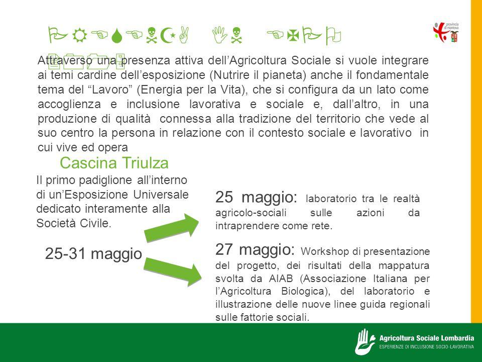   Cascina Triulza Il primo padiglione all'interno di un'Esposizione Universale dedicato interamente alla Società Civile.