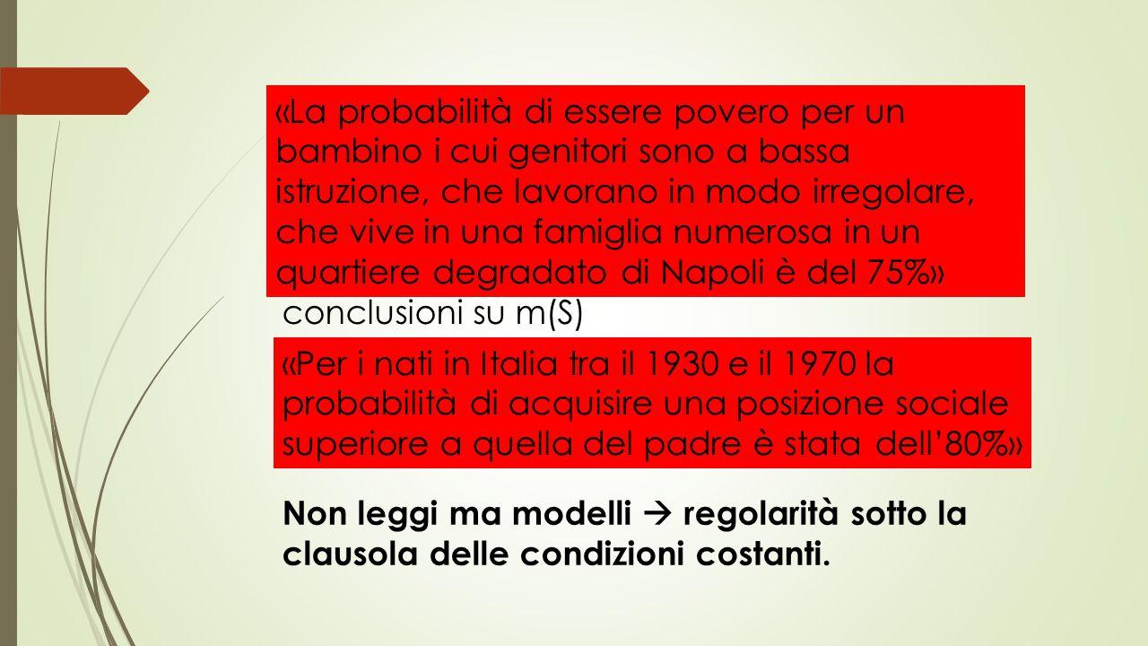Distinzione tra legge e modello: Legge  ha un'applicazione generale Modello  si applica a situazioni ideali, cioè particolari. Muove dalle condizion