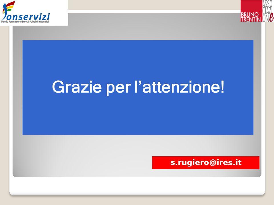 Grazie per l'attenzione! s.rugiero@ires.it