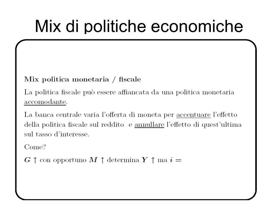 11 Mix di politiche economiche