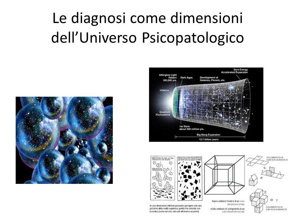 Le diagnosi come dimensioni dell'Universo Psicopatologico