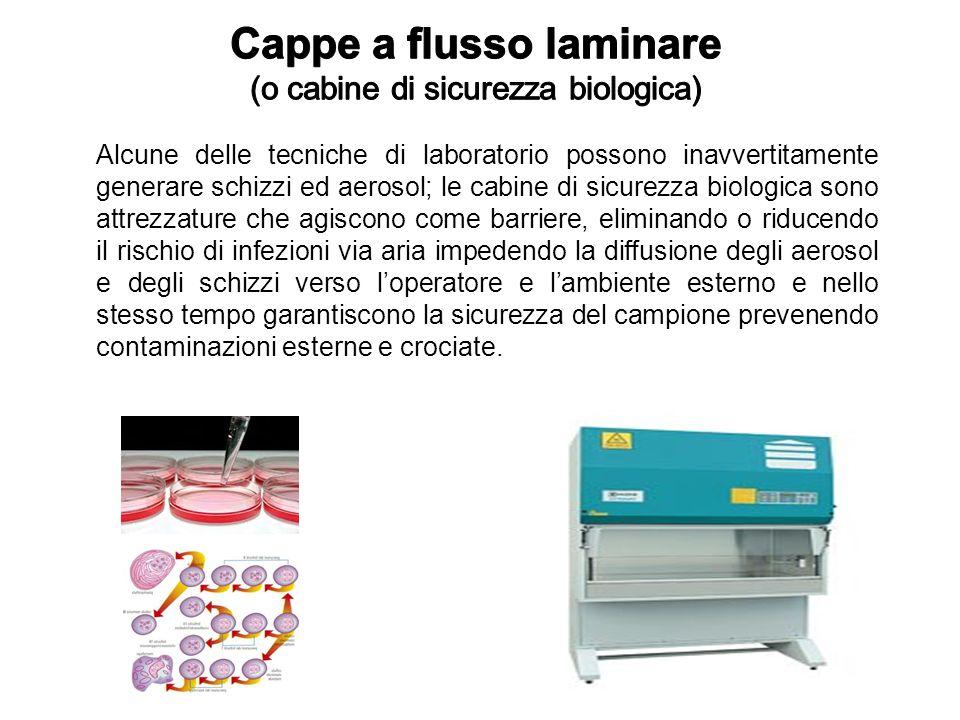 Alcune delle tecniche di laboratorio possono inavvertitamente generare schizzi ed aerosol; le cabine di sicurezza biologica sono attrezzature che agis