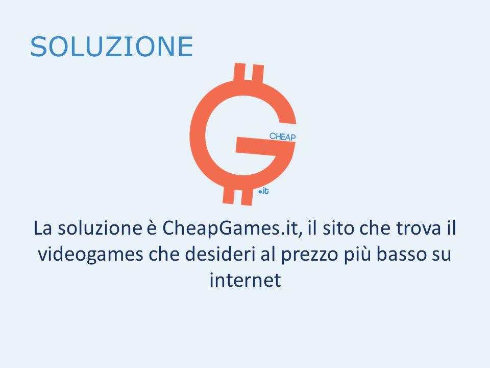 SOLUZIONE La soluzione è CheapGames.it, il sito che trova il videogames che desideri al prezzo più basso su internet