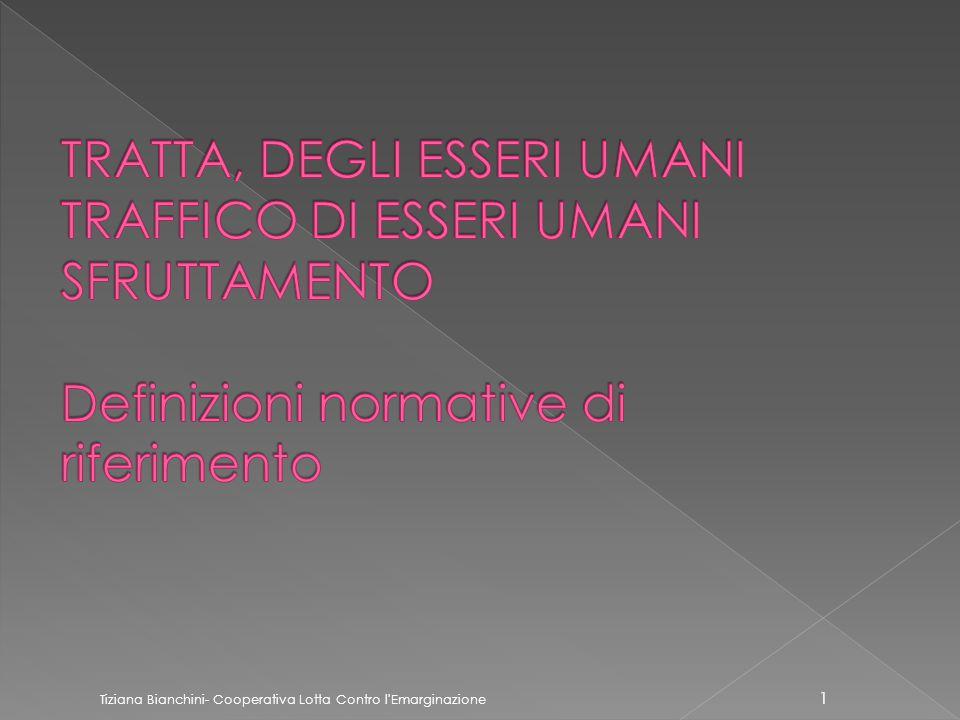 Tiziana Bianchini- Cooperativa Lotta Contro l Emarginazione 1