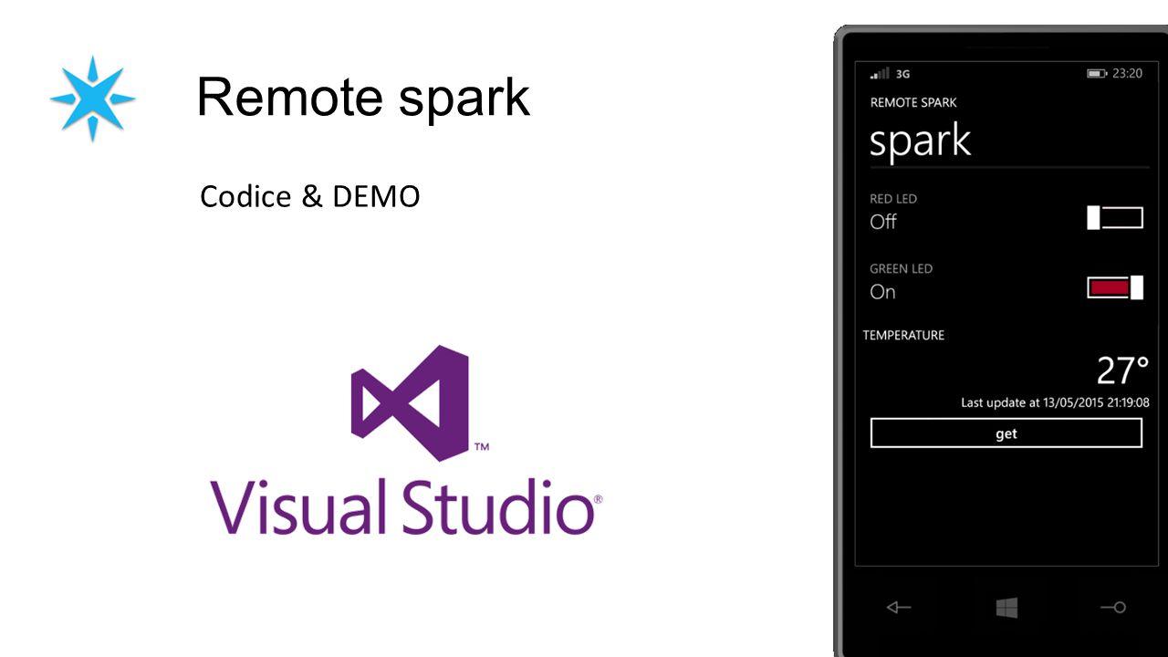 Remote spark Codice & DEMO