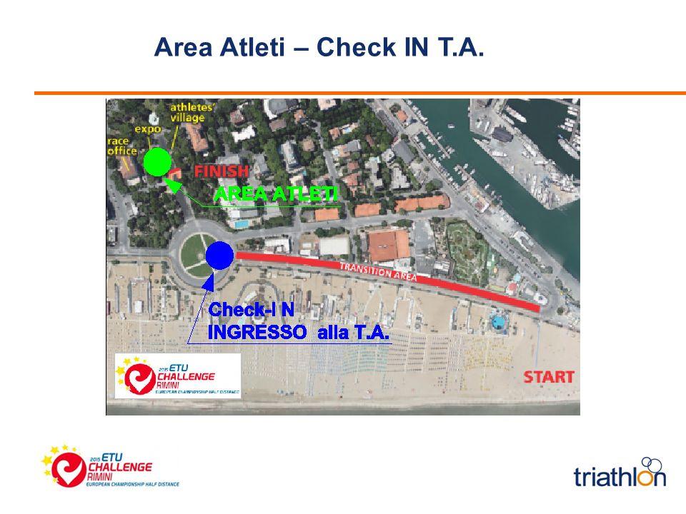 Area Atleti – Check IN T.A.