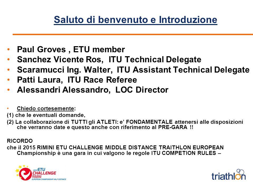 Saluto di benvenuto e Introduzione Paul Groves, ETU member Sanchez Vicente Ros, ITU Technical Delegate Scaramucci Ing.