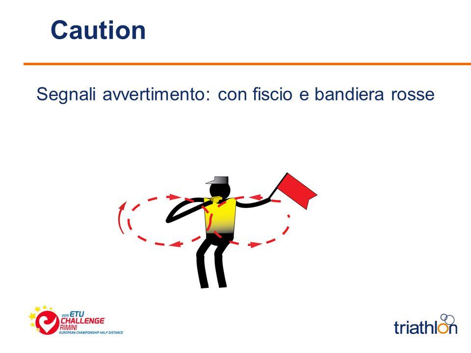 Caution Segnali avvertimento: con fiscio e bandiera rosse
