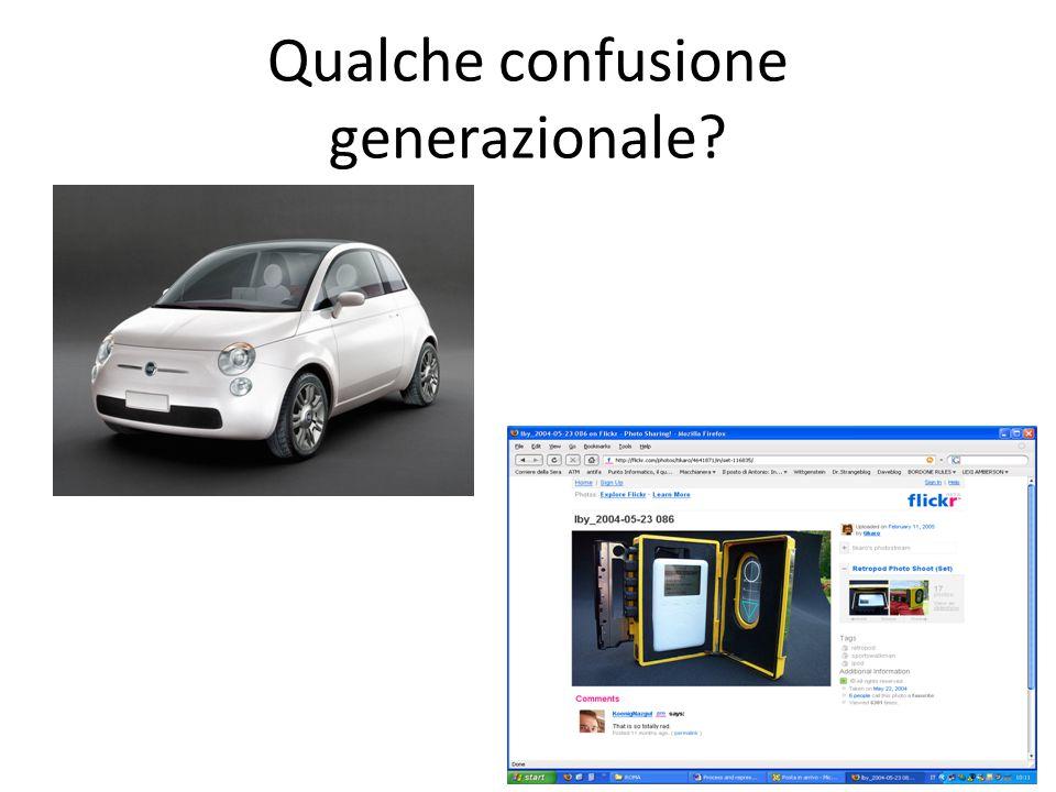 Qualche confusione generazionale?