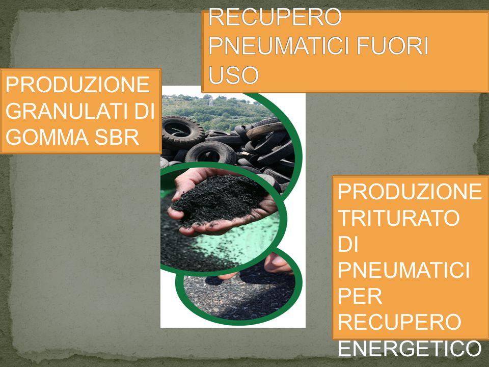 PRODUZIONE GRANULATI DI GOMMA SBR PRODUZIONE TRITURATO DI PNEUMATICI PER RECUPERO ENERGETICO