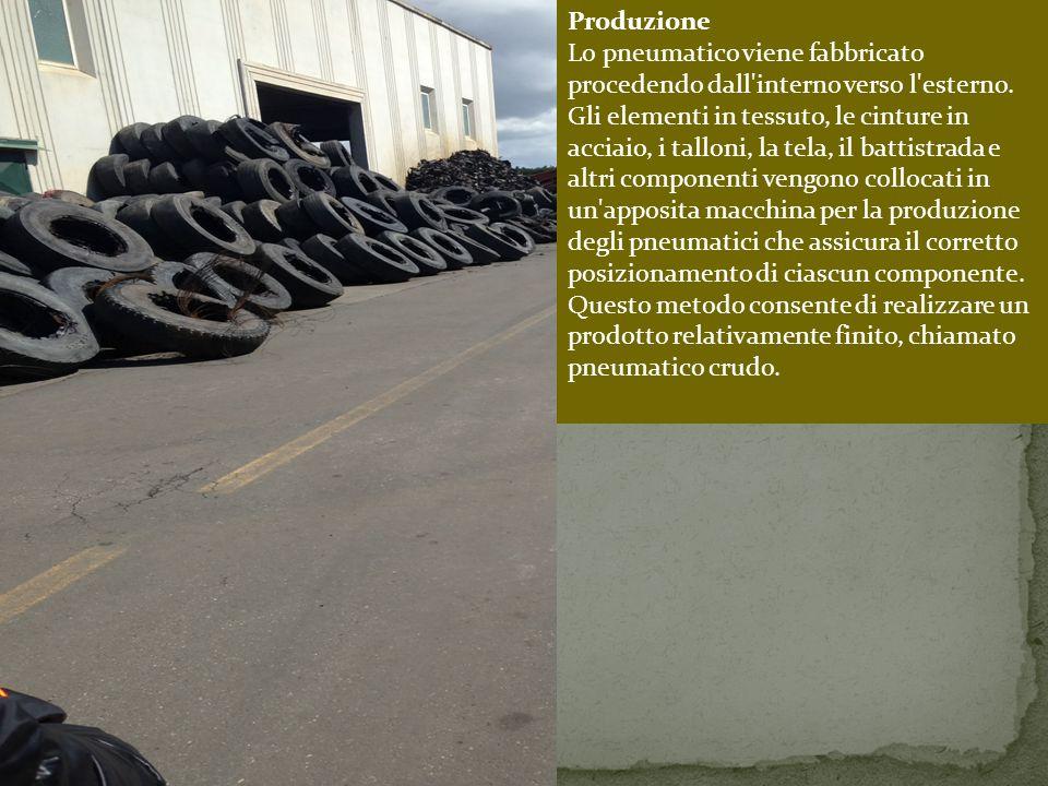 Produzione Lo pneumatico viene fabbricato procedendo dall interno verso l esterno.