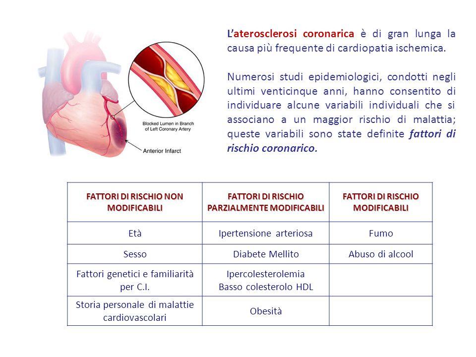 L'aterosclerosi coronarica è di gran lunga la causa più frequente di cardiopatia ischemica. Numerosi studi epidemiologici, condotti negli ultimi venti
