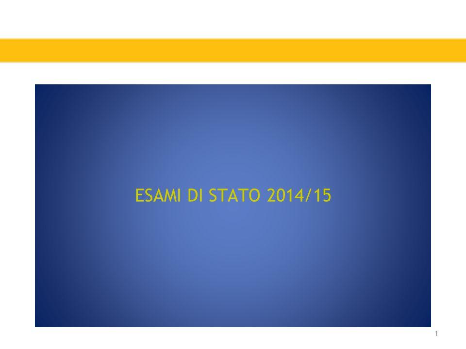 ESAMI DI STATO 2014/15 1