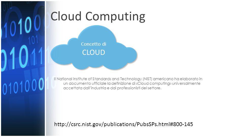 Le cinque caratteristiche essenziali del Cloud computing : Self-Service: l'utente deve poter richiedere i servizi (banda, potenza computazionale, applicazioni) autonomamente, senza l'intervento dei gestori dell'infrastruttura o dei service provider.