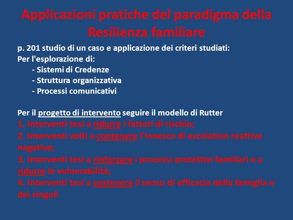 p. 201 studio di un caso e applicazione dei criteri studiati: Per l'esplorazione di: - Sistemi di Credenze - Struttura organizzativa - Processi comuni