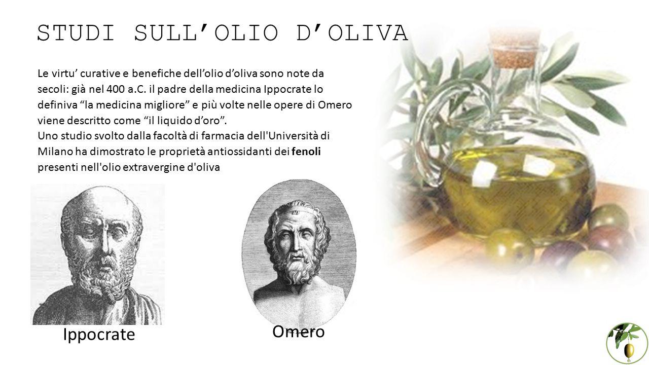 Le virtu' curative e benefiche dell'olio d'oliva sono note da secoli: già nel 400 a.C.