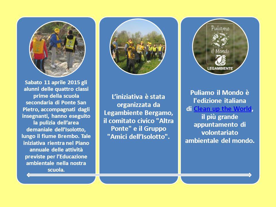 Sabato 11 aprile 2015 gli alunni delle quattro classi prime della scuola secondaria di Ponte San Pietro, accompagnati dagli insegnanti, hanno eseguito