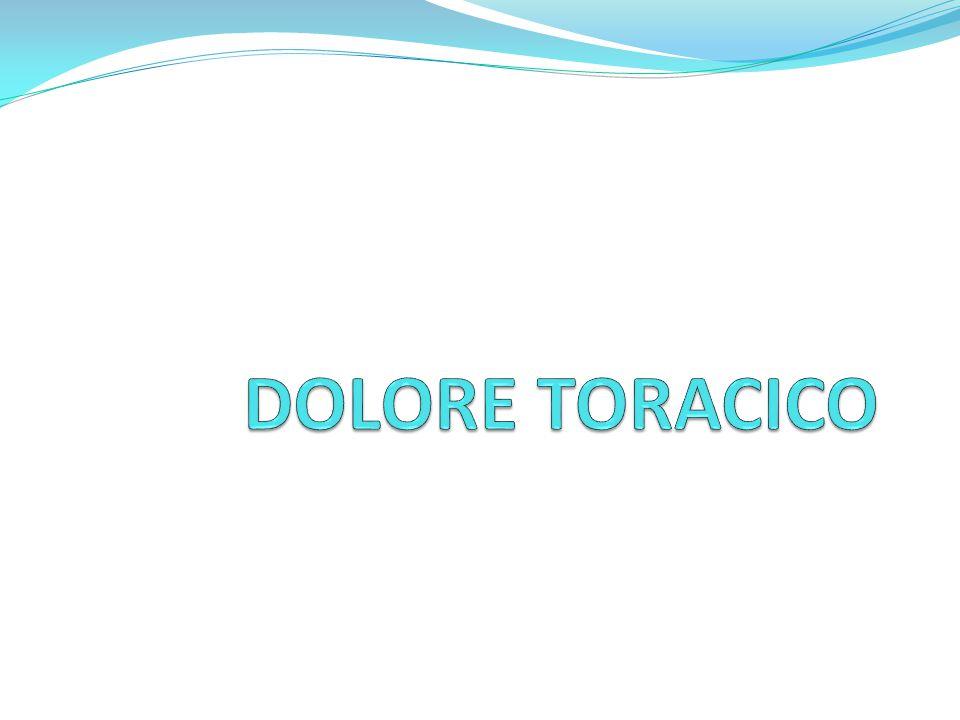 PER DOLORE TORACICO si intende una sindrome, caratterizzata da sensazioni dolorose a carico del torace, comprese tra la linea della bocca e quella ombelicale.