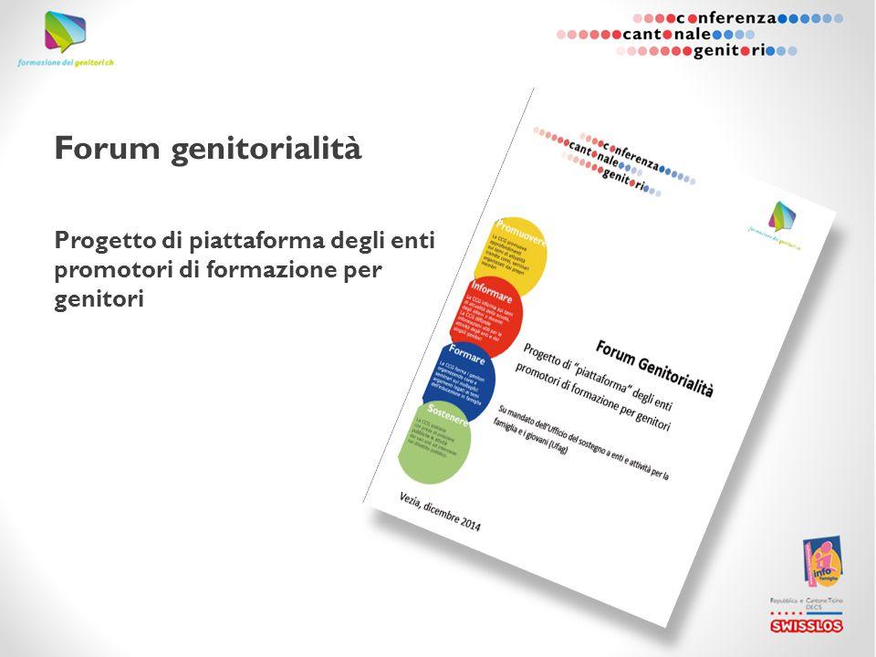 Forum genitorialità Progetto di piattaforma degli enti promotori di formazione per genitori