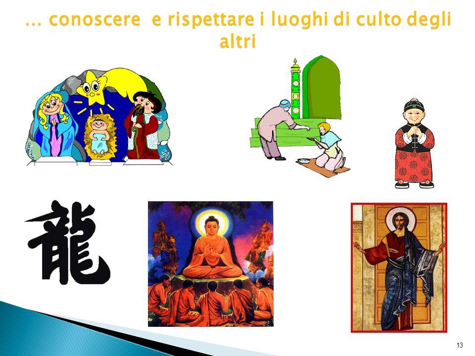 13 … conoscere e rispettare i luoghi di culto degli altri