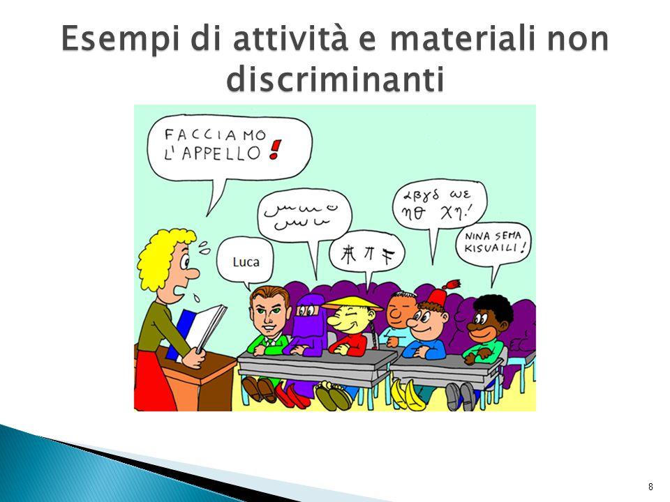Esempi di attività e materiali non discriminanti 8