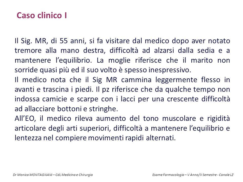 Caso clinico I Il Sig. MR, di 55 anni, si fa visitare dal medico dopo aver notato tremore alla mano destra, difficoltà ad alzarsi dalla sedia e a mant