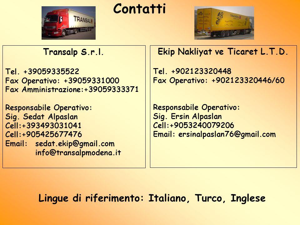 Contatti Transalp S.r.l. Tel.
