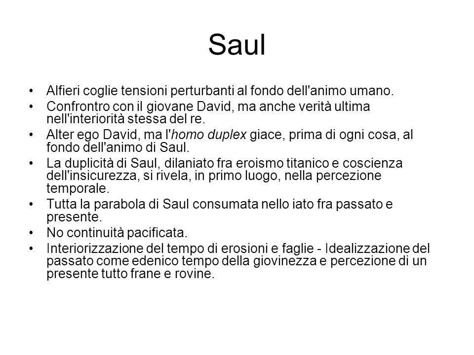 Saul Alfieri coglie tensioni perturbanti al fondo dell'animo umano. Confrontro con il giovane David, ma anche verità ultima nell'interiorità stessa de