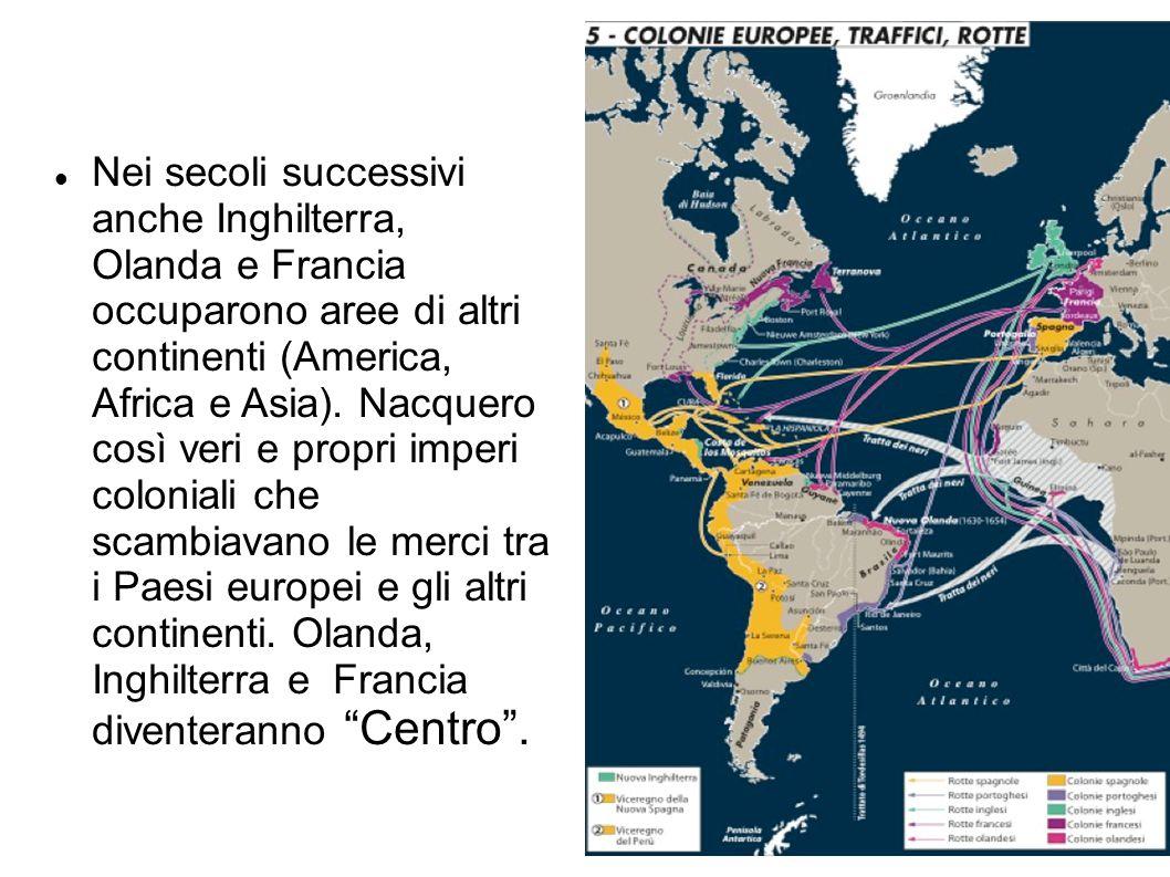 Nei secoli successivi anche Inghilterra, Olanda e Francia occuparono aree di altri continenti (America, Africa e Asia). Nacquero così veri e propri im