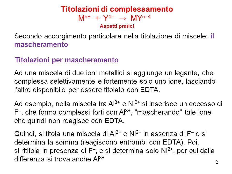 13 Titolazioni di precipitazione A + t → At (s) Un altro requisito delle titolazioni è che il PE sia rivelabile.