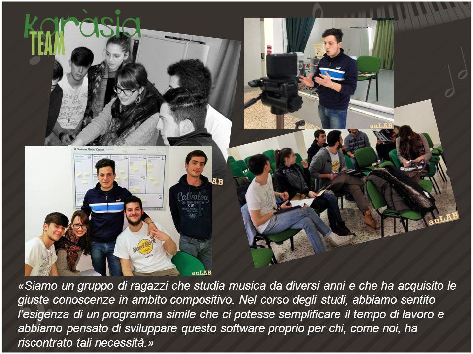 TEAM «Siamo un gruppo di ragazzi che studia musica da diversi anni e che ha acquisito le giuste conoscenze in ambito compositivo.