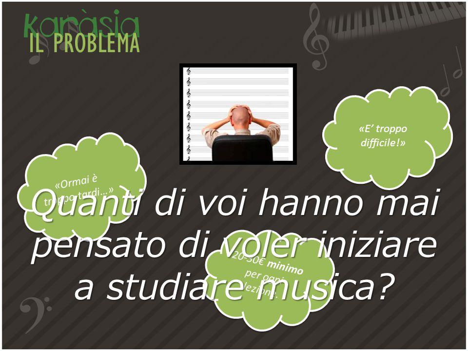 IL PROBLEMA «Ormai è troppo tardi…» 20-30€ minimo per ogni lezione.