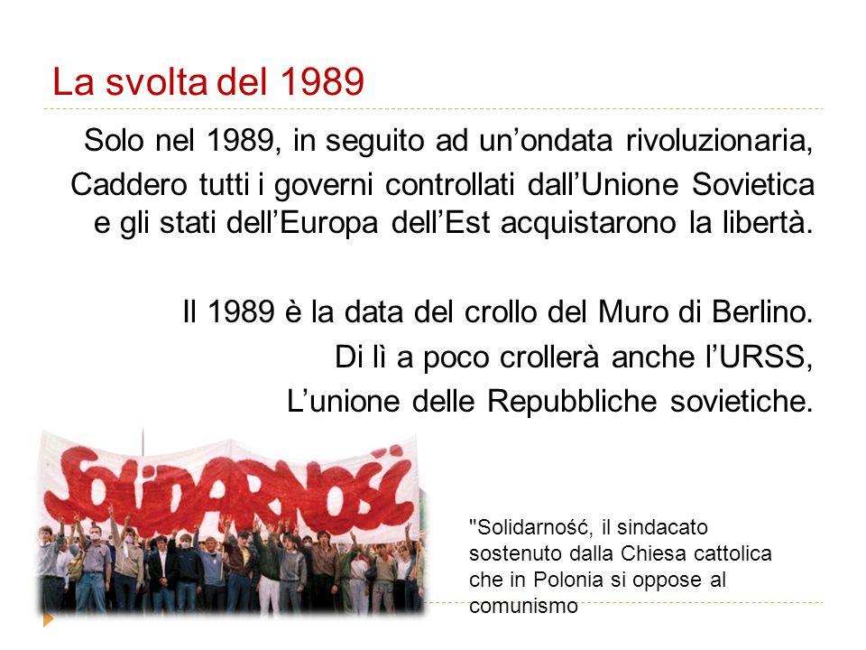 2004-2007: l'ingresso nella UE  Negli ultimi anni le nazioni di questa zona sono entrate nella UE  Polonia, Repubblica Ceca, Slovacchia e Ungheria dal 2004  Romania e Bulgaria dal 2007