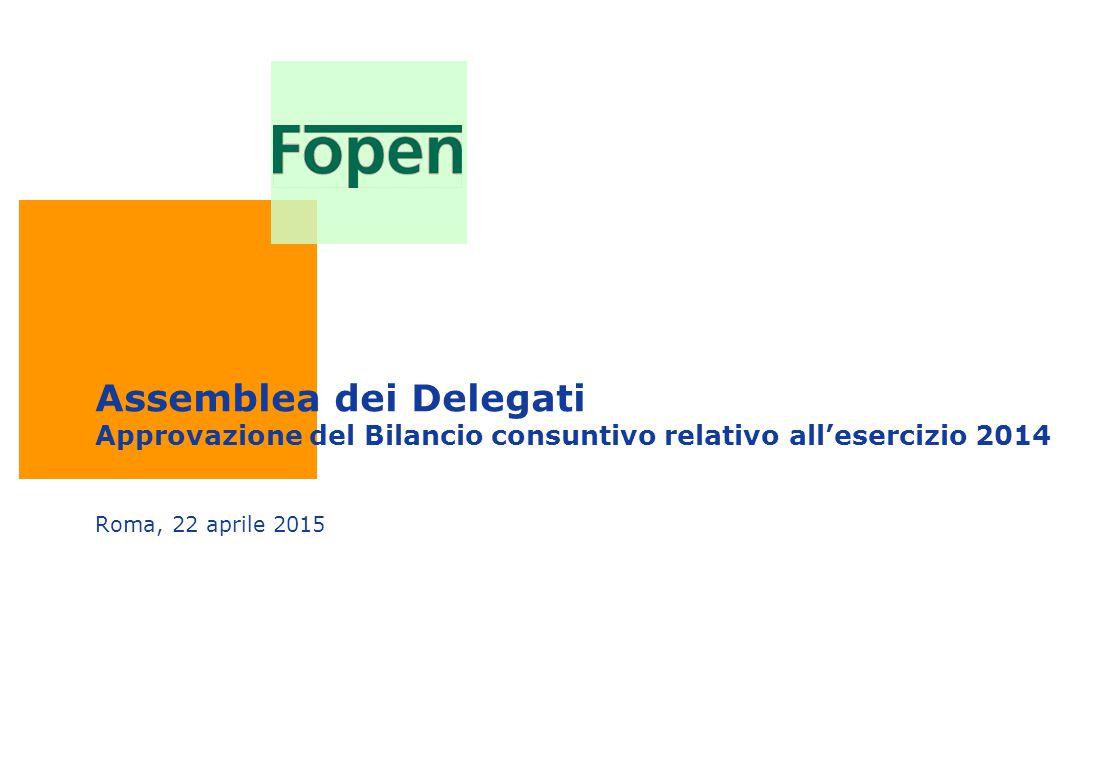 Assemblea dei Delegati Approvazione del Bilancio consuntivo relativo all'esercizio 2014 Roma, 22 aprile 2015