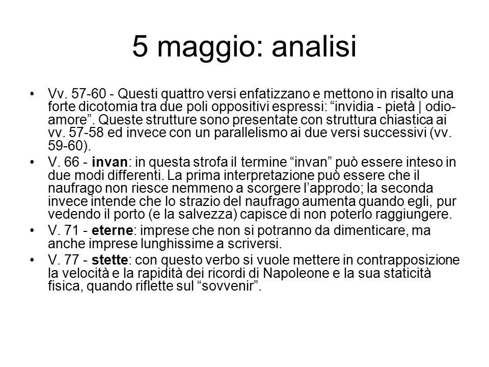 5 maggio: analisi Vv.