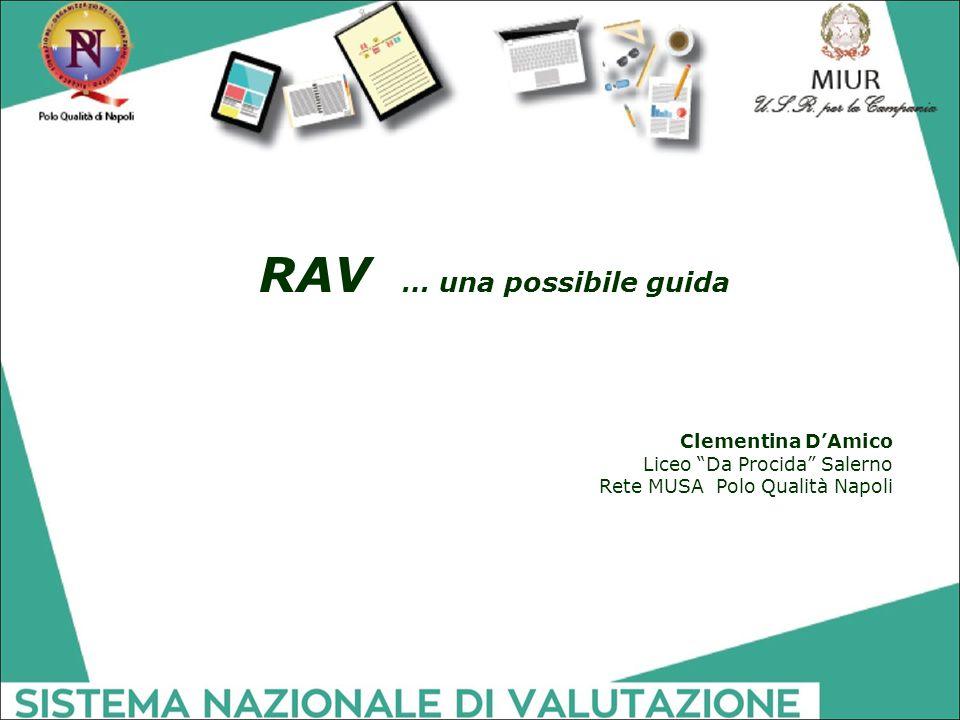 """RAV … una possibile guida Clementina D'Amico Liceo """"Da Procida"""" Salerno Rete MUSA Polo Qualità Napoli"""