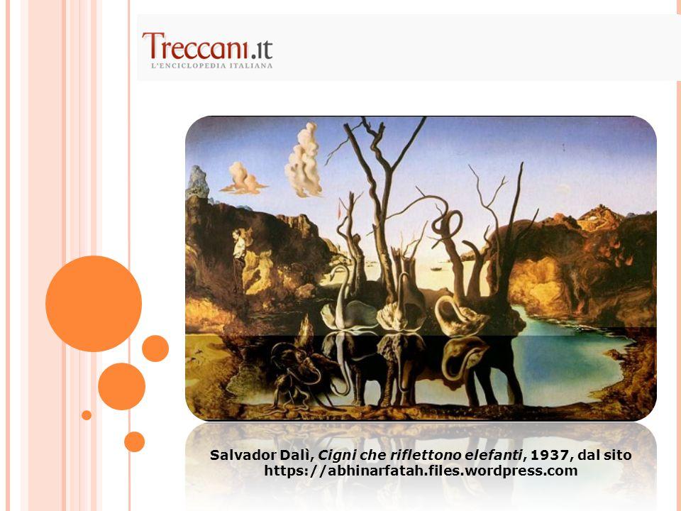 Salvador Dalì, Cigni che riflettono elefanti, 1937, dal sito https://abhinarfatah.files.wordpress.com