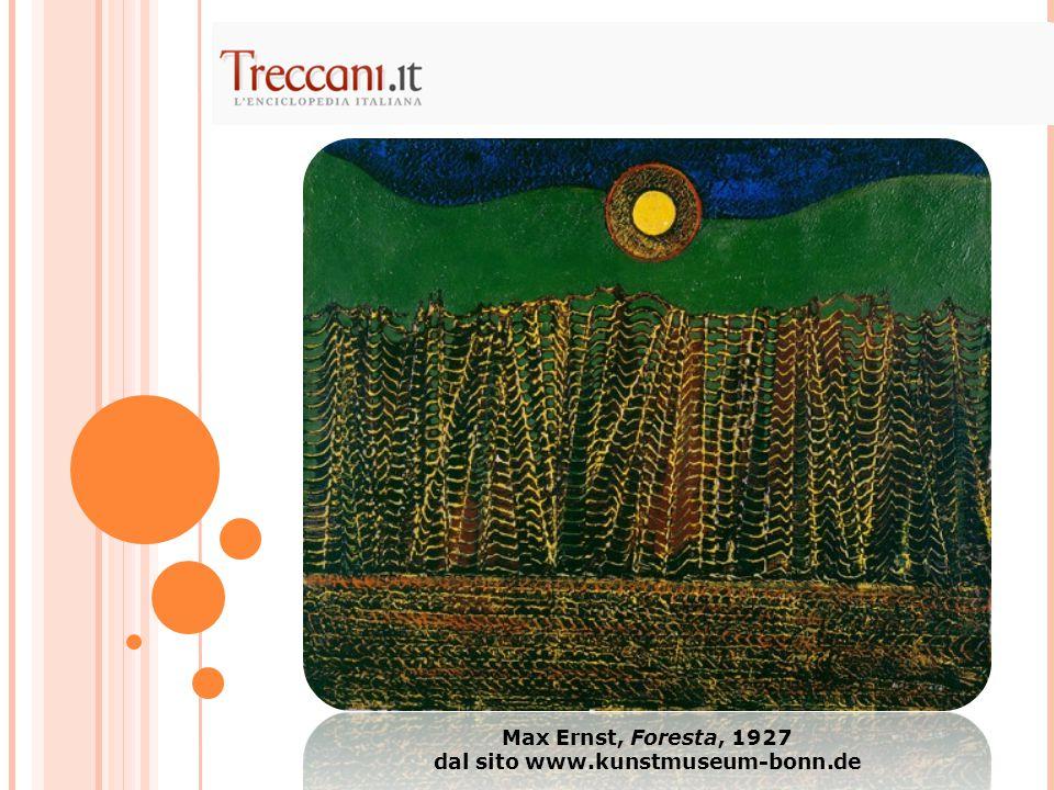 Max Ernst, Foresta, 1927 dal sito www.kunstmuseum-bonn.de