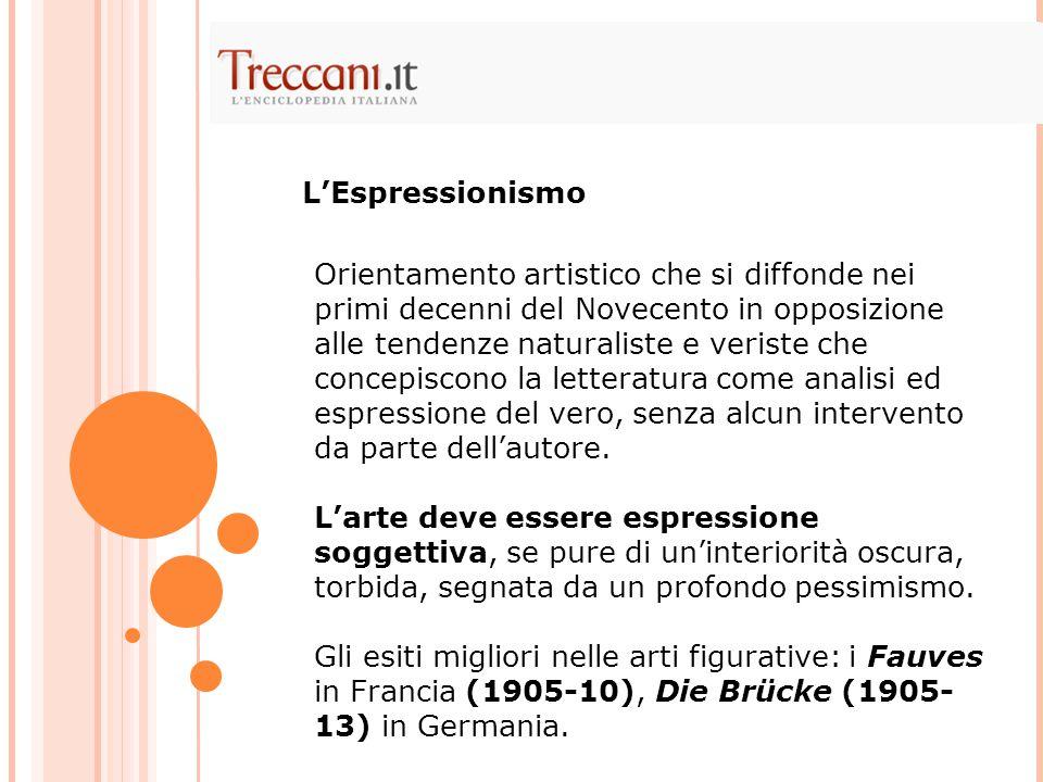 Orientamento artistico che si diffonde nei primi decenni del Novecento in opposizione alle tendenze naturaliste e veriste che concepiscono la letterat